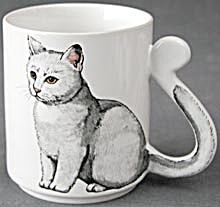 Cat Mug With Tail Handle