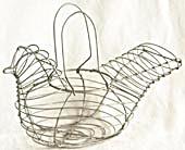 Vintage Wire Hen Basket (Image1)