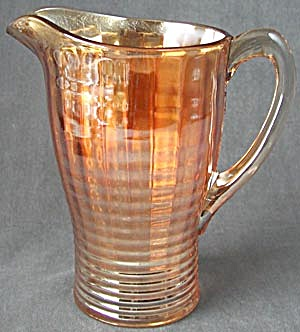 Vintage Marigold Glass Pitcher  (Image1)