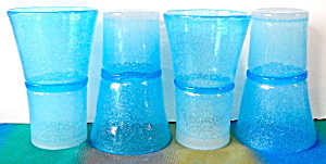 Vintage Blue Drinking Glass