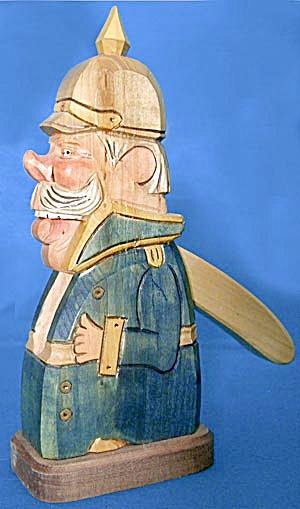 Hand Carved German Police Nutcracker (Image1)