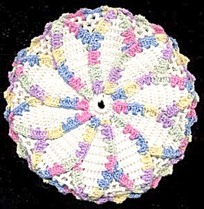 Vintage Crocheted Flower Pot Holder (Image1)