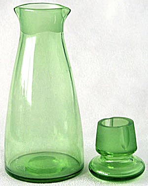 Vintage Green Glass Double Spout Decanter (Image1)
