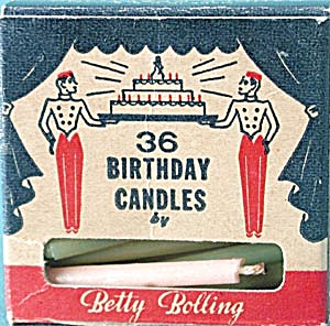 Vintage Betty Bolling & Crown Birthday Cake Candles  (Image1)