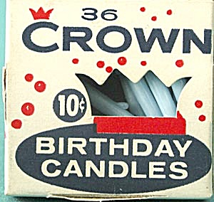 Vintage Birthday Cake Candles By Crown (Image1)