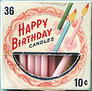 Vintage Happy Birthday Cake Candles (Image1)