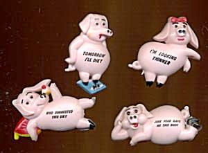 4 Pig Magnets (Image1)