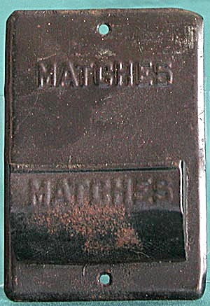 Vintage Metal Match Holder
