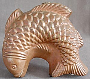 Vintage Copper Fish Jello Mold (Image1)