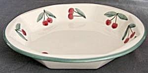 Ceramic Cherry Pie Plate