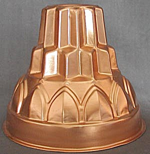 Vintage Large Copper-tone Jello Mold (Image1)