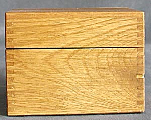 Vintage Wood Recipe Box (Image1)
