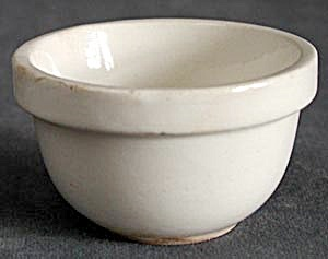 Vintage Small White Mixing Bowl (Image1)
