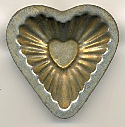 Tin Fancy Individual Heart Tart Molds Set Of 13