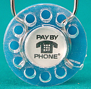 Phone Dial Key Chain