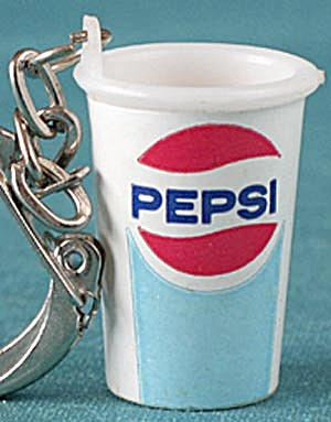 Vintage Pepsi Soda Cup Keychain