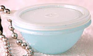 Tupperware Blue Bowl Key Chain