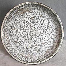 Vintage 2 Tone Gray Graniteware Pie Plate (Image1)