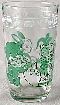 Swanky Swig Green Cat And Rabbit