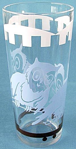 Vintage Circus Elephant &  Owl Glass Tumblers (Image1)