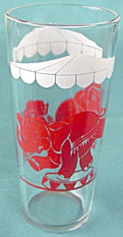 Vintage Circus Parrot & Elephant Glass Tumblers