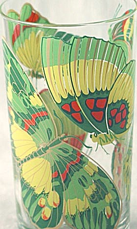 Georges Briard Butterfly Tumblers Set Of 6