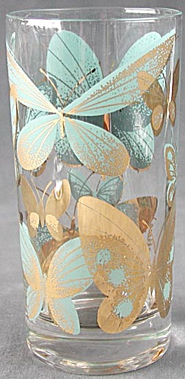 Vintage Butterfly Glasses Set of 6 (Image1)