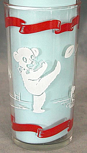 Vintage Teddy Bear Glass Tumbler