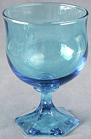 Vintage Blue Footed Drinking Glasses  (Image1)