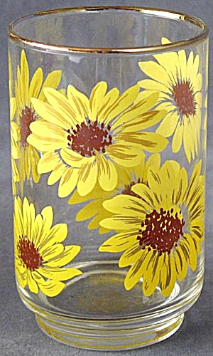 Vintage Sunflower Glass