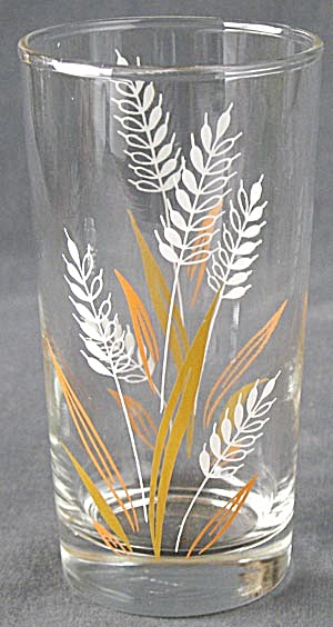 Vintage Wheat Drinking Glass