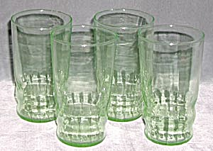 Depression Green Drinking Glasses Set Of 4