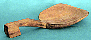 Vintage Wooden Butter Scoop with Hooked Handle (Image1)