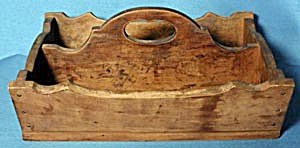 Vintage Wood Cutlery Tray (Image1)