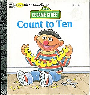 Vintage Sesame Street Count To 10 Little Golden Book
