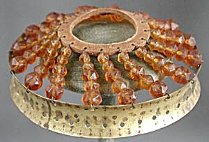Vintage Czech Glass Beaded Shade Top (Image1)