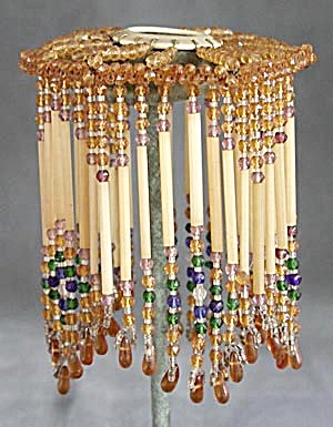 Vintage Czech Glass Beaded Shade (Image1)