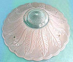 Vintage 1940's Glass 3 Chain Ceiling Shade (Image1)