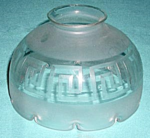Vintage Greek Key Design Glass Shade (Image1)