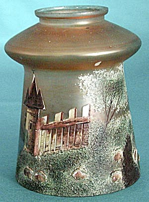Unusual Glass Shade with Raised Castle (Image1)