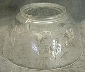 Vintage Clear Glass Etched Shade (Image1)