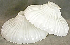 Vintage Pair Opaque Glass Shades (Image1)