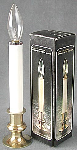 Battery Brass Candle Lights Set of 11 (Image1)
