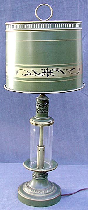 Metal with Glass Base Table Lamp (Image1)