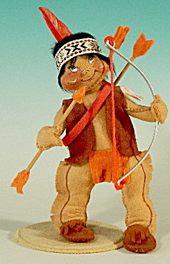 """Annalee 7"""" Indian Boy with Bow and Arrow (Image1)"""