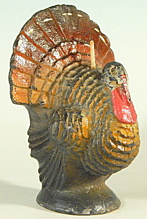 Vintage Thanksgiving Gurley Turkey Candle (Image1)