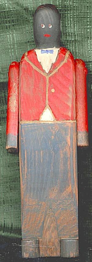 Rustic Wooden Black Man Doll (Image1)