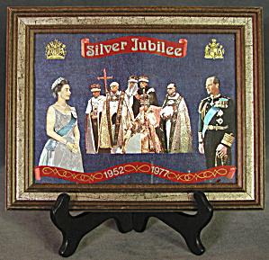 Vintage Framed Silver Jubilee Queen Elizabeth (Image1)
