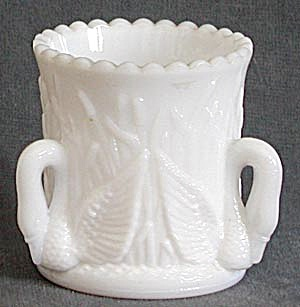 Westmoreland White Swan Toothpick Holder