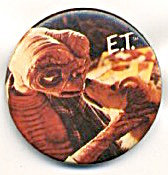 E.t. With Dog Pinback Button